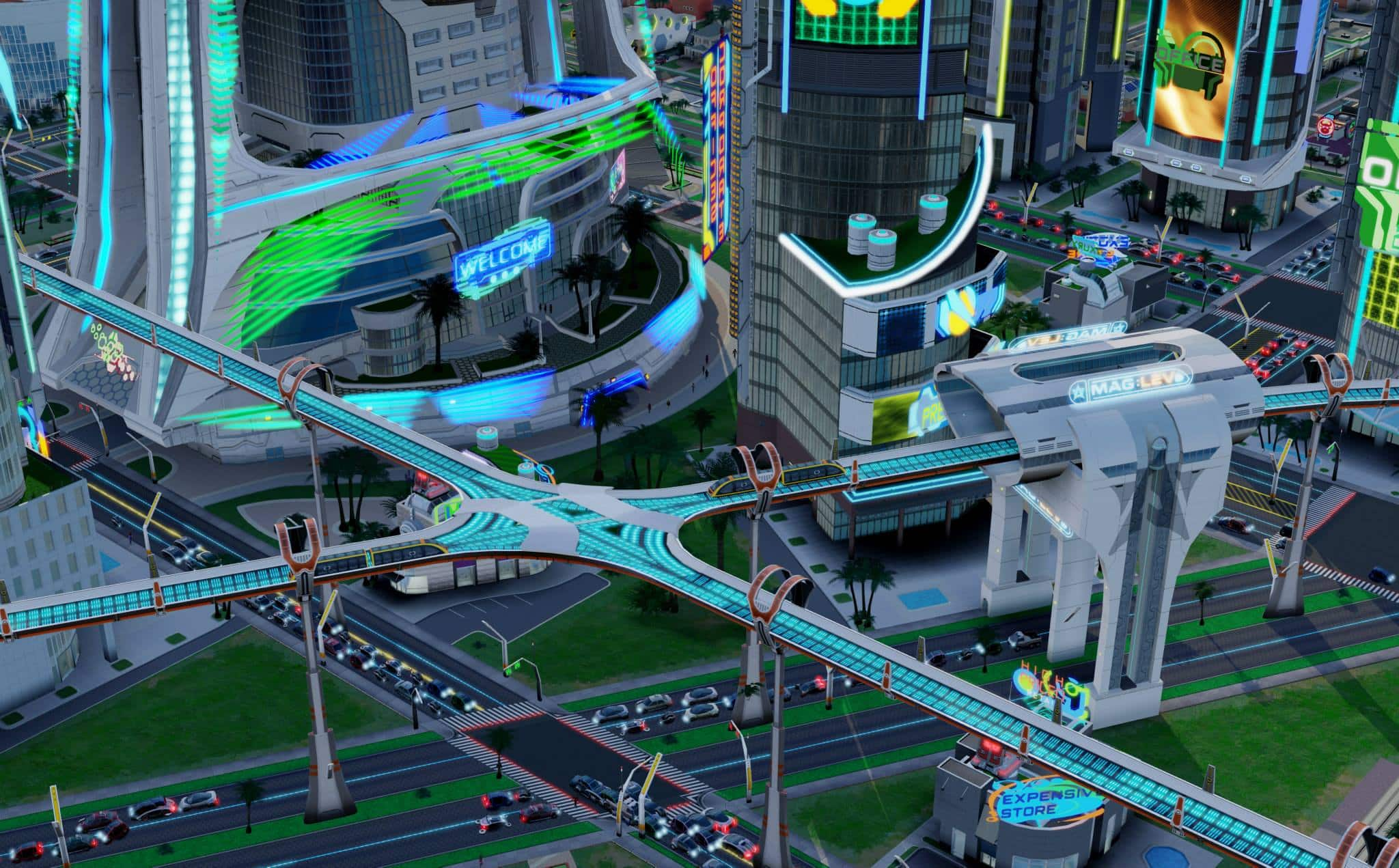 Simcity Cities Of Tomorrow Future Transportation Gallery