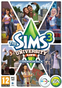 the sims 3 university life cover