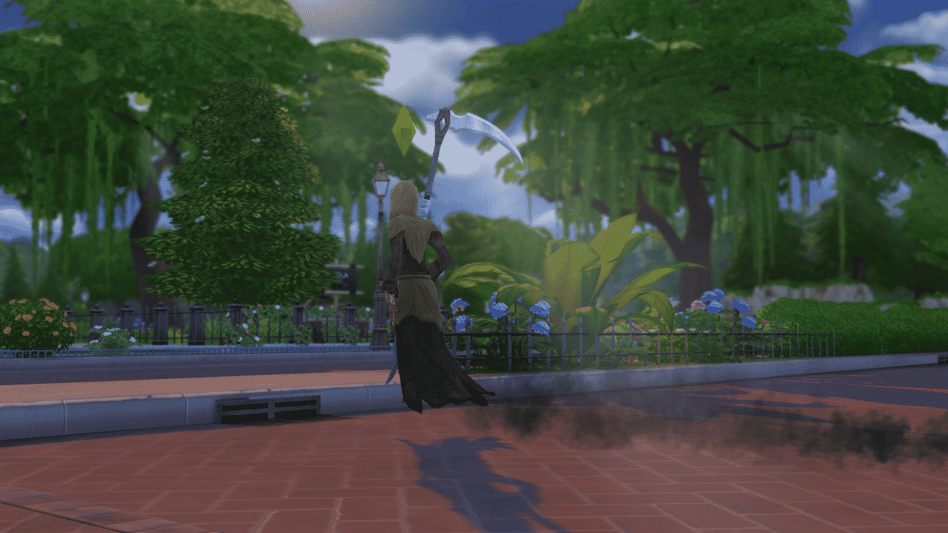 how to add the grim reaper to your family sims 4 ps4