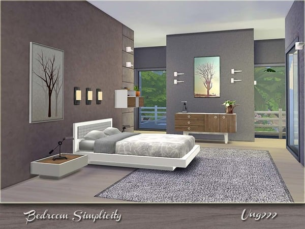 the sims 4 custom content bedroom simplicity set 19706 | w 600h 450 2508753