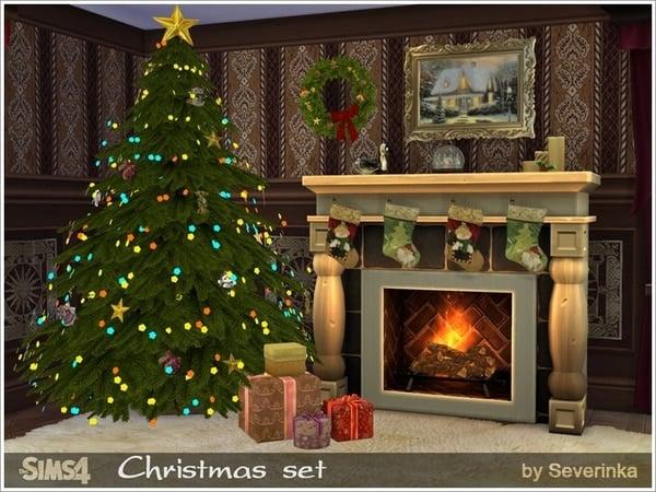 Sims 3 Christmas Tree.The Sims 4 Custom Content Christmas Set