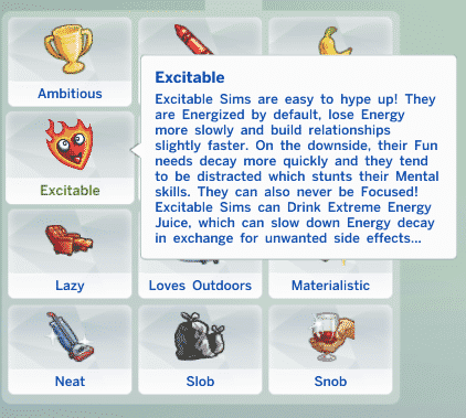 Mod) New Traits for The Sims 4: Excitable, Smug and Closed