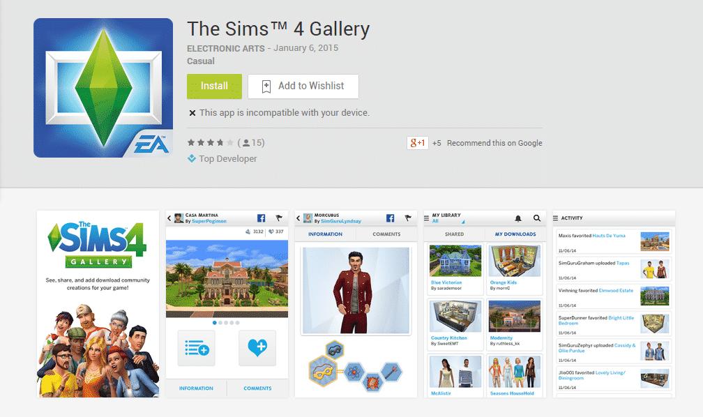 TS4 Gallery App