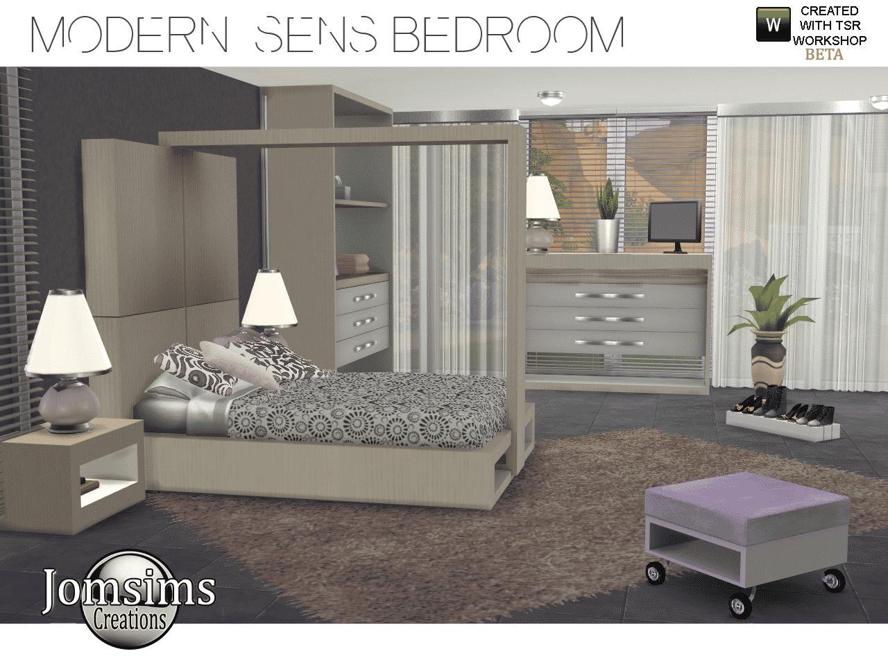 The Sims 4 Custom Content Modern Sens Bedroom