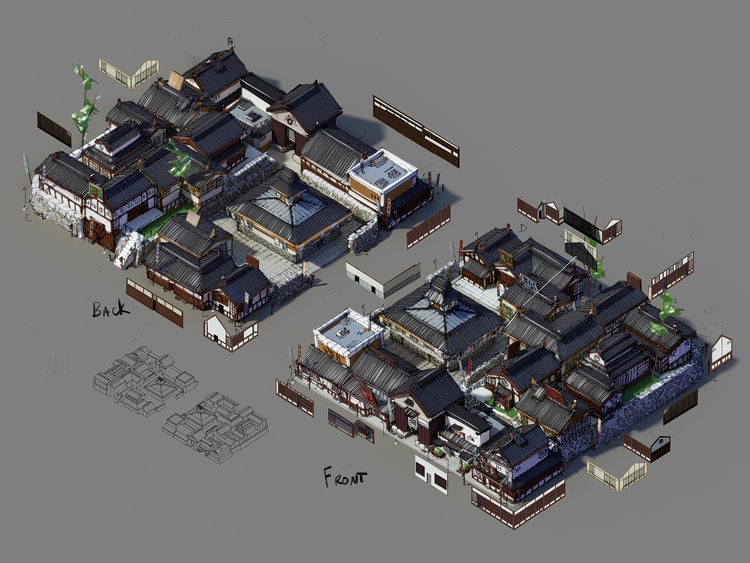 SimCity: Unreleased Japanese Edo-Period DLC Concept Art