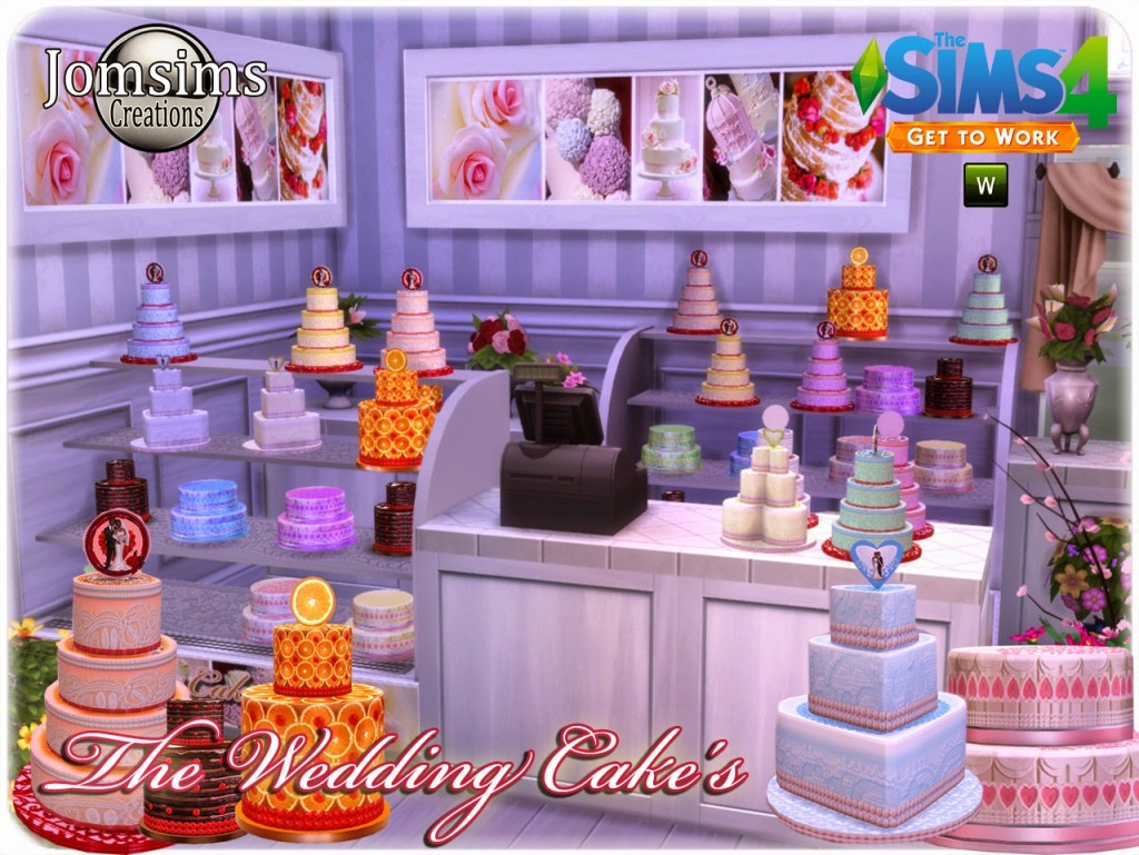 CC Wedding Cakes for The Sims 8 Get to Work!