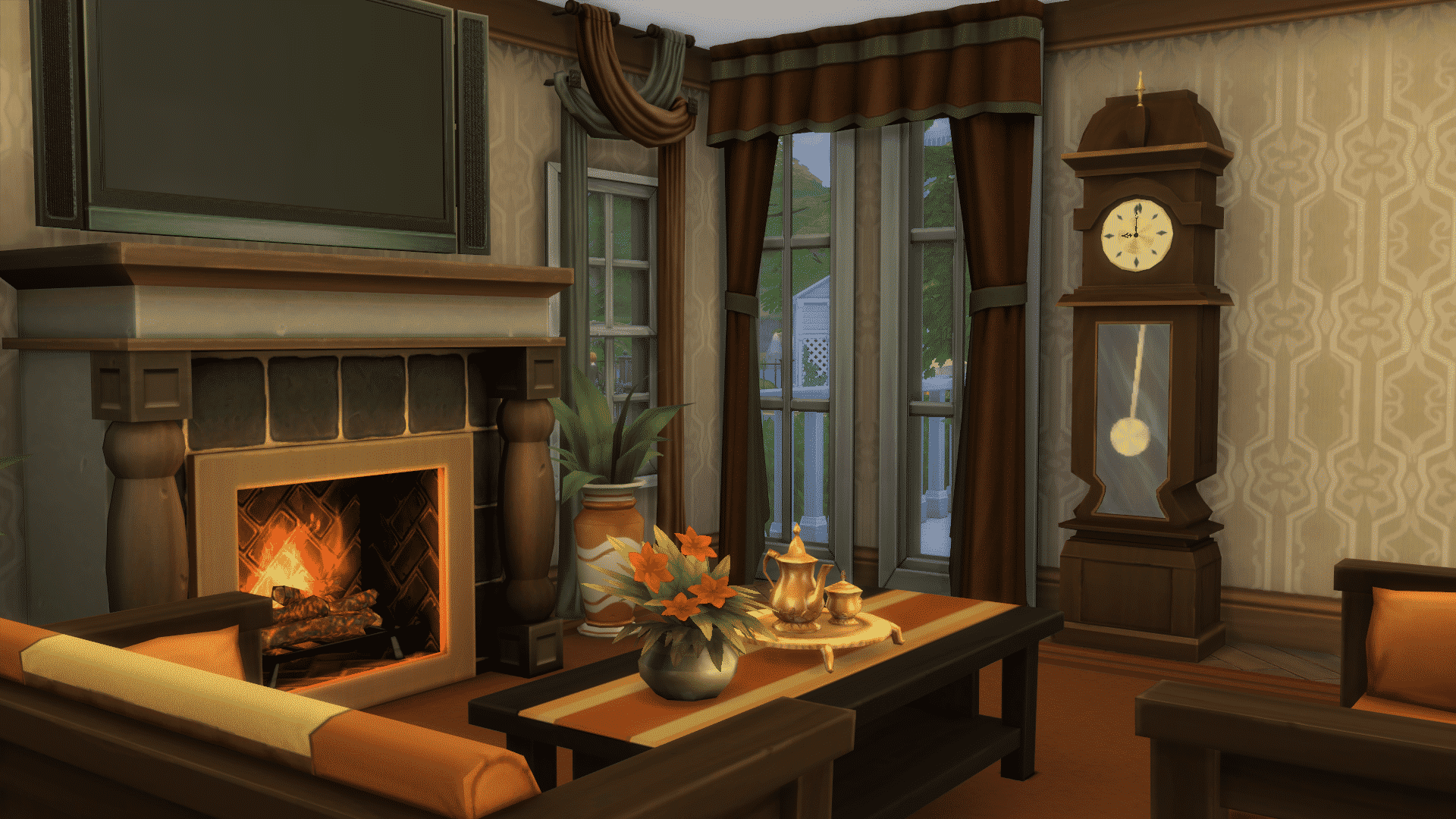The Sims 4 Mod Animated Grandfather S Clock