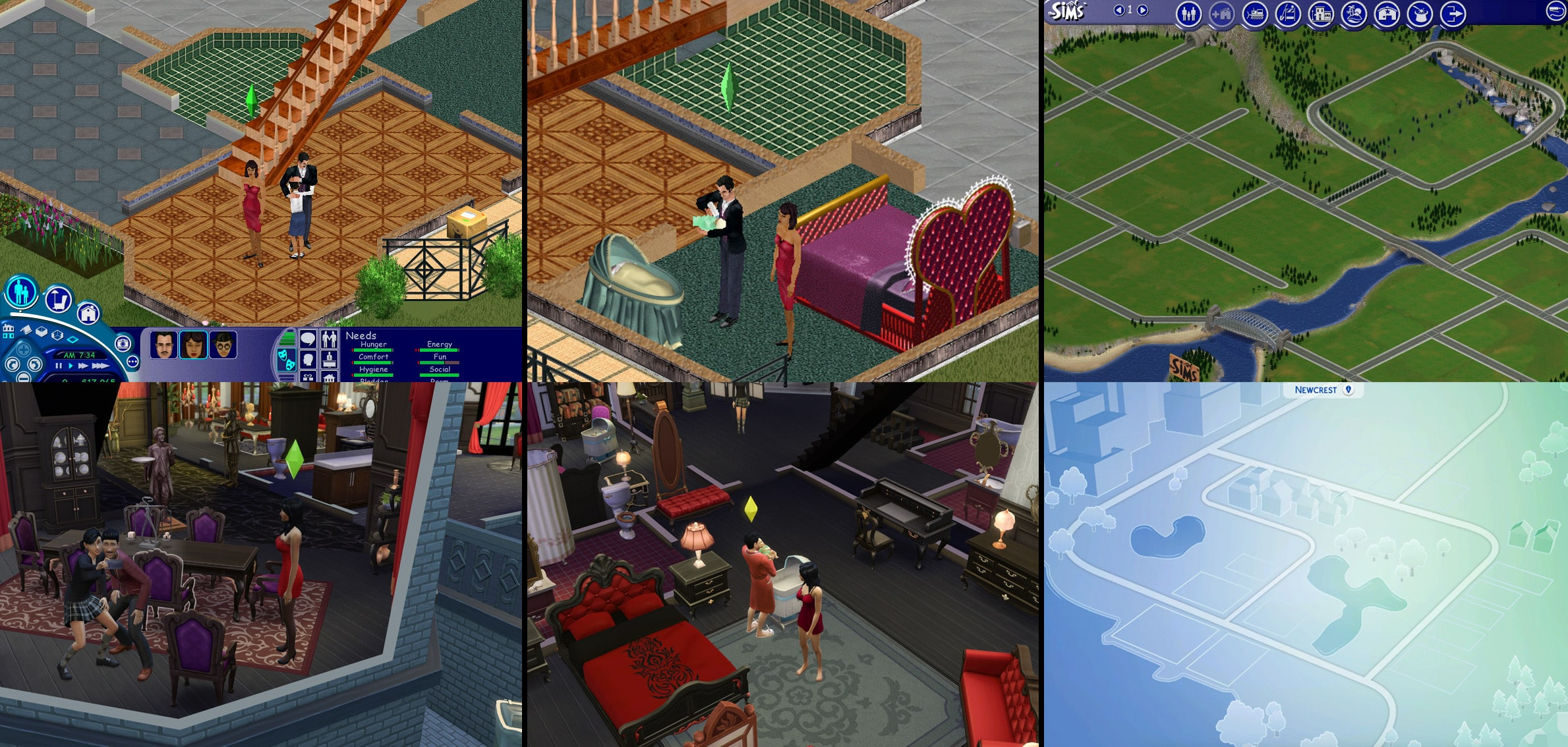 Sims 4 and Sims 1 Comparison