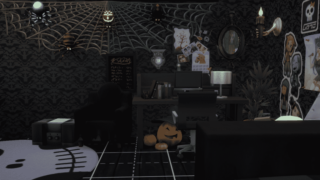 The Sims 4 Spooky Creations Spooky Bedroom By Sourpatchsimmer