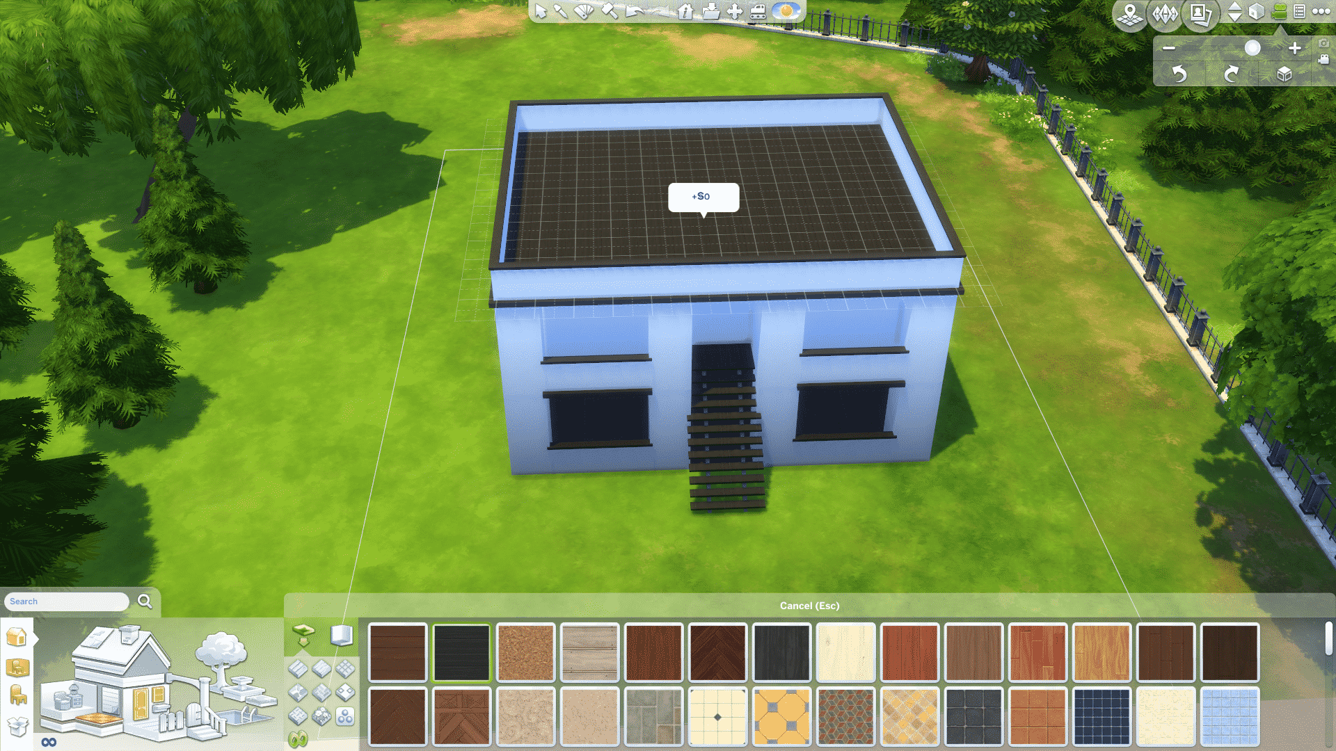 Then colour the base and roof of your house in the same colour as your accent colour like so