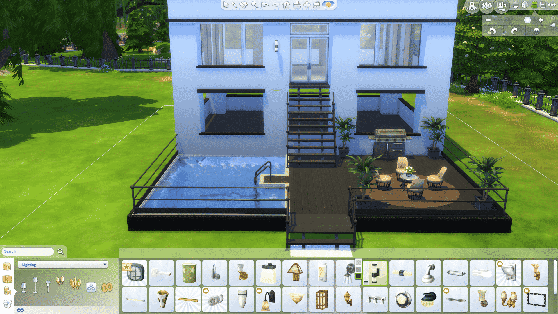 The sims 4 how to build a simple modern house for Pool design sims 3