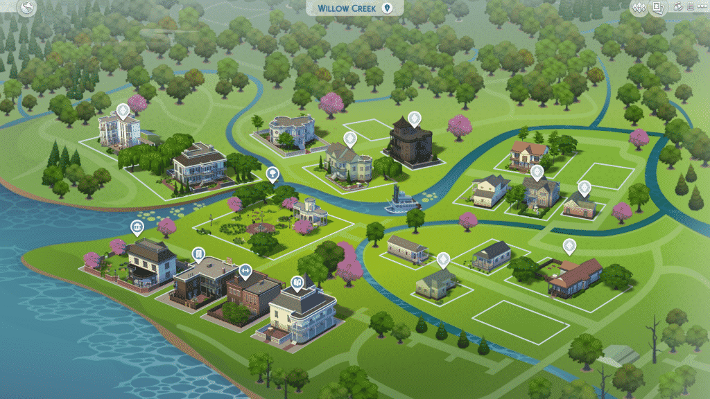 The Sims 4: World Map Visual Improvements!