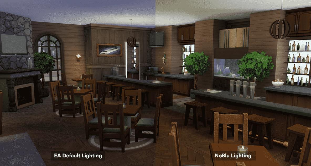 The Sims 4 Noblu Lighting Improvement Mod