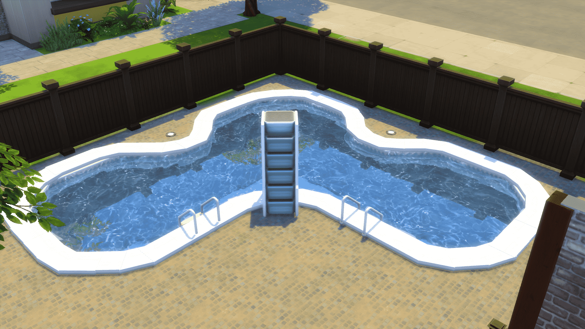 The sims 4 building decorating your backyard for Pool design sims 3