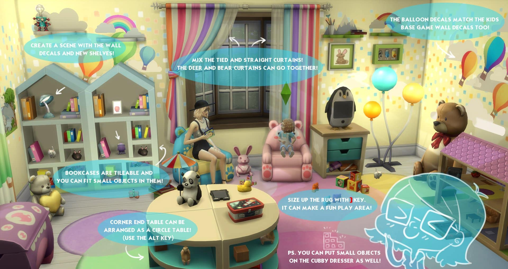the sims 4 toddlers room decor tips by simgurukimmi. Black Bedroom Furniture Sets. Home Design Ideas
