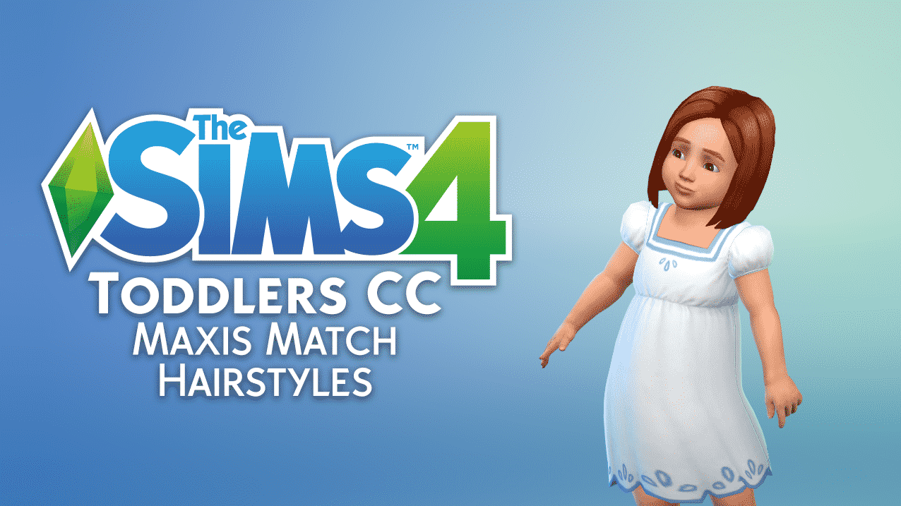 34569b95a085 The Sims 4 CC Spotlight  Toddler Maxis Match Hair