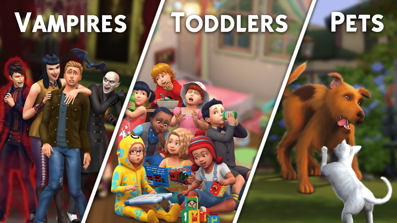 the sims 4 in case you missed vampires toddlers pets. Black Bedroom Furniture Sets. Home Design Ideas