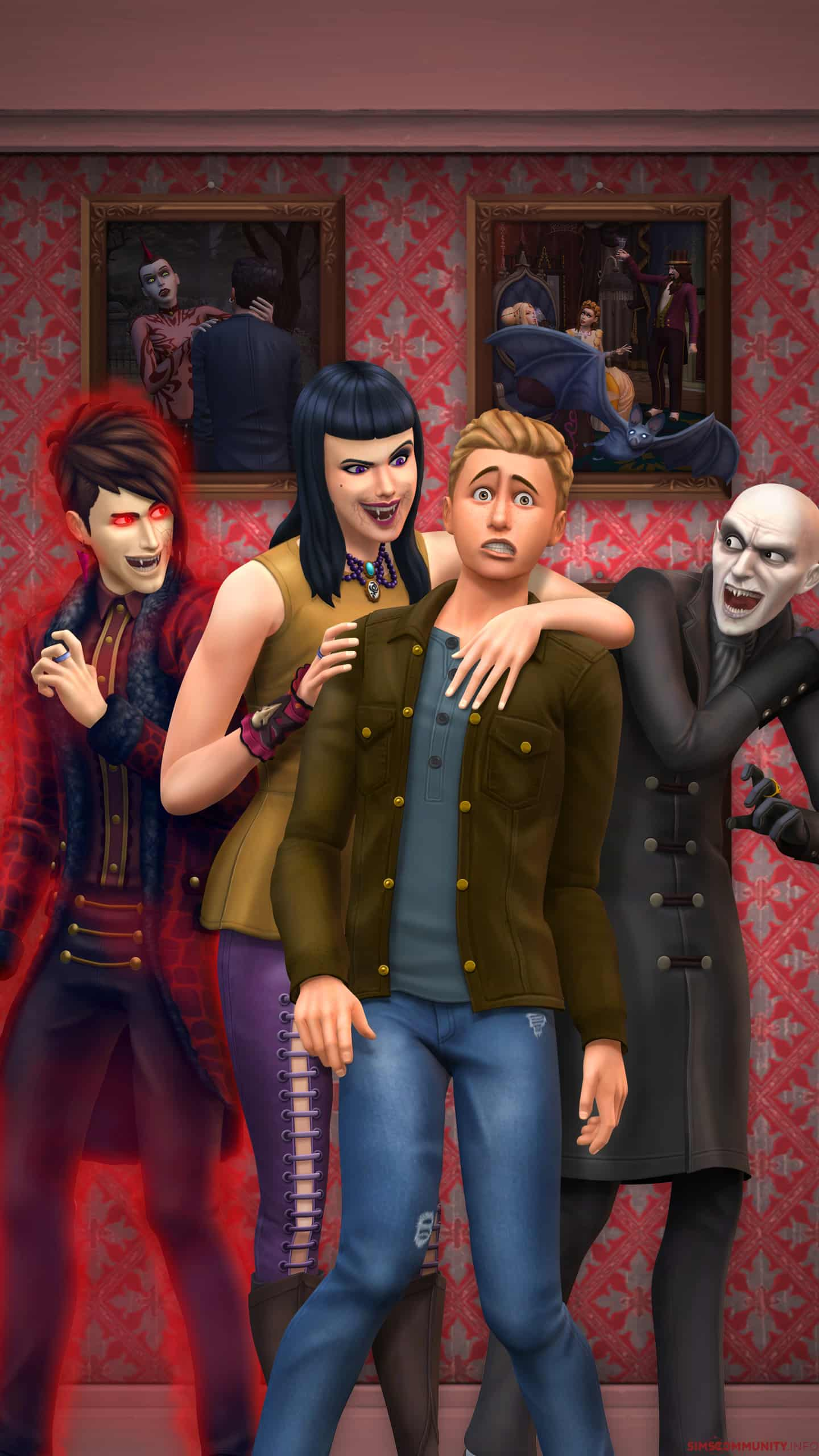 The Sims 4 Vampires: Desktop & Smartphone Wallpapers