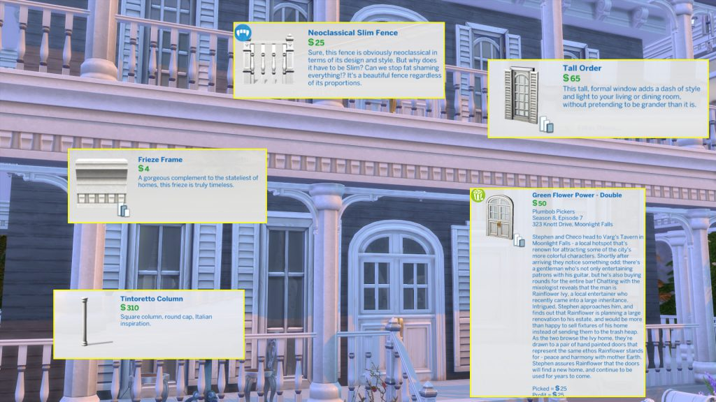 sims 4 architectural build objects and decor