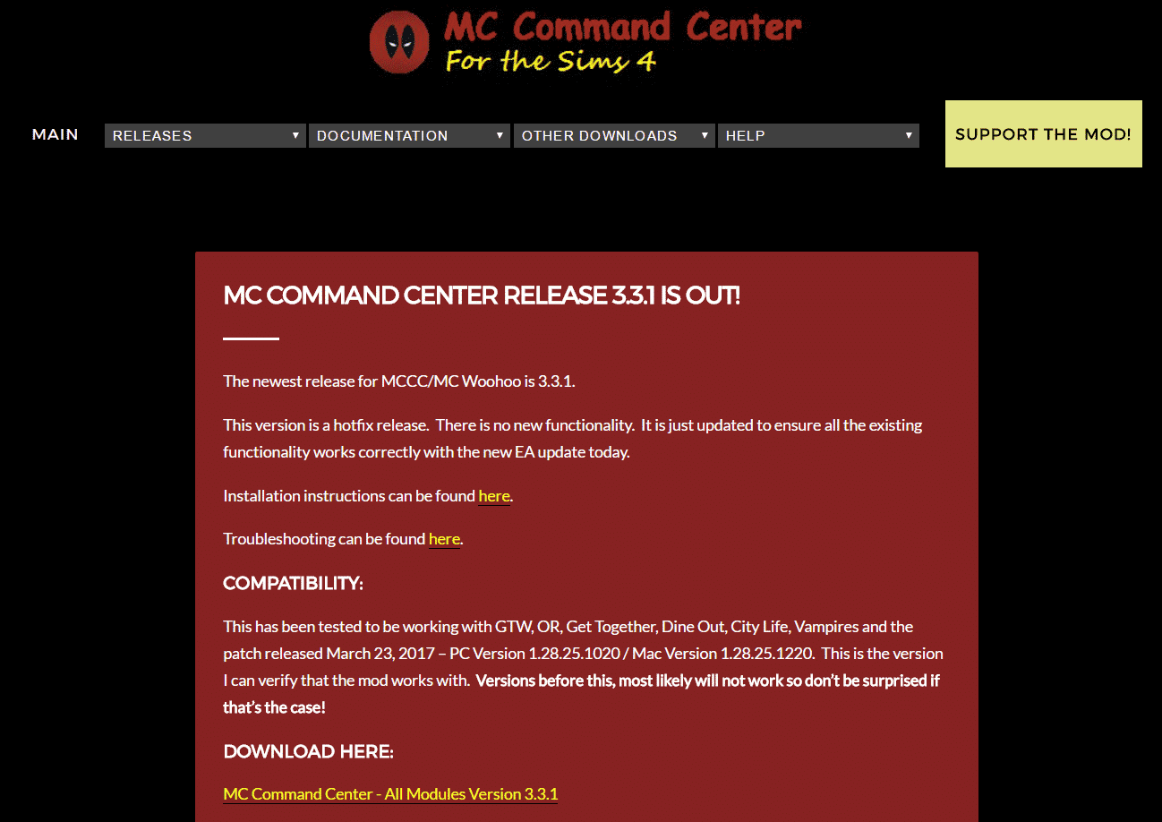 Mc Command Center Has A New Download Location New Update