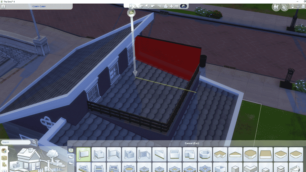 the sims 4 building, the sims 4 build, the sims 4 build tutorial, tutorial, roof balcony, sims building, the sims building