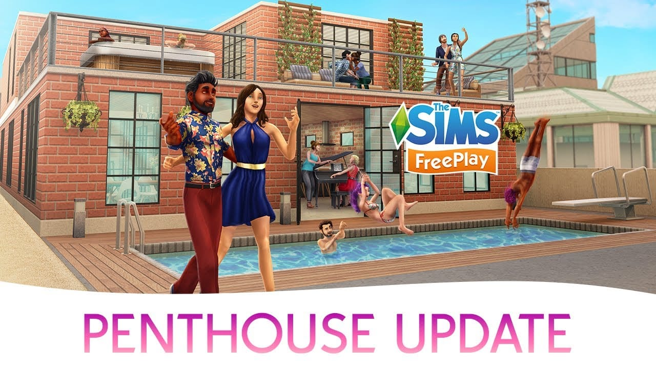 the sims freeplay penthouse update trailer. Black Bedroom Furniture Sets. Home Design Ideas