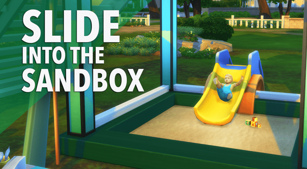 sims 4 build tutorial, build tutorial, sims 4 toddler stuff, toddler stuff pack, toddler sandbox, sims 4 toddler sandbox