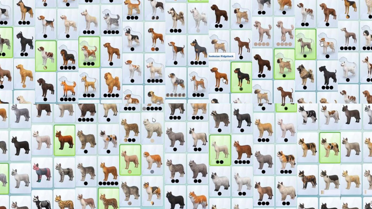 Don T Worry There Are Plenty Of Breeds In The Sims 4 Cats Dogs