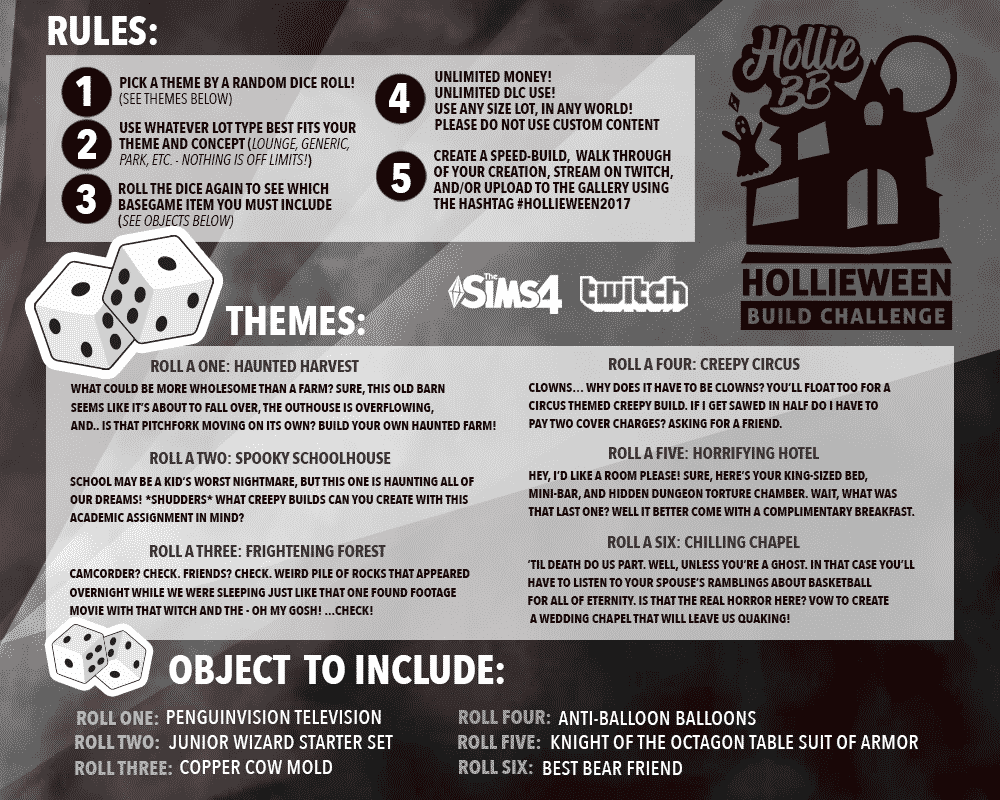 the sims, the sims 4 challenges, build challenges, the sims 4 build challenge, halloween build challenge, halloween challenge