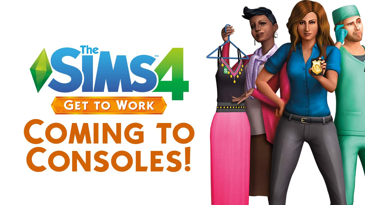 the sims 4 get to work is coming to xbox one and ps4. Black Bedroom Furniture Sets. Home Design Ideas