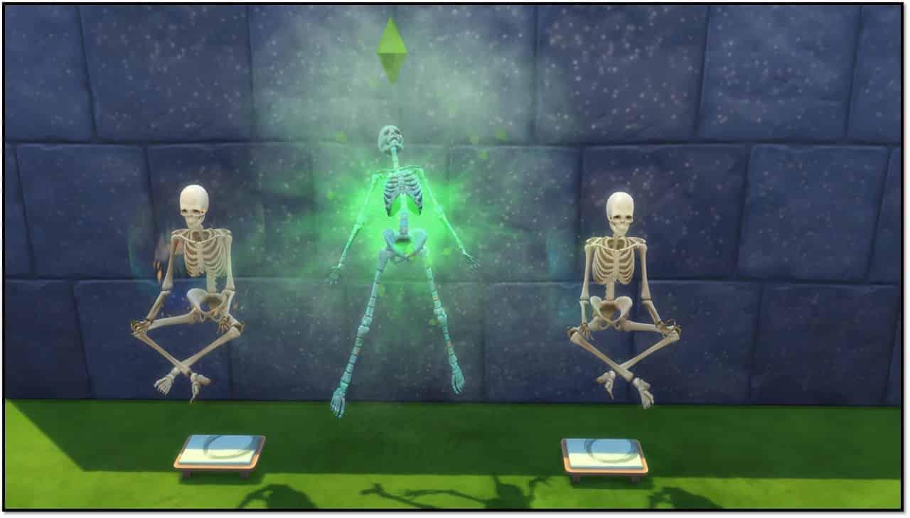 the sims 4 jungle adventure skeletons screenshot
