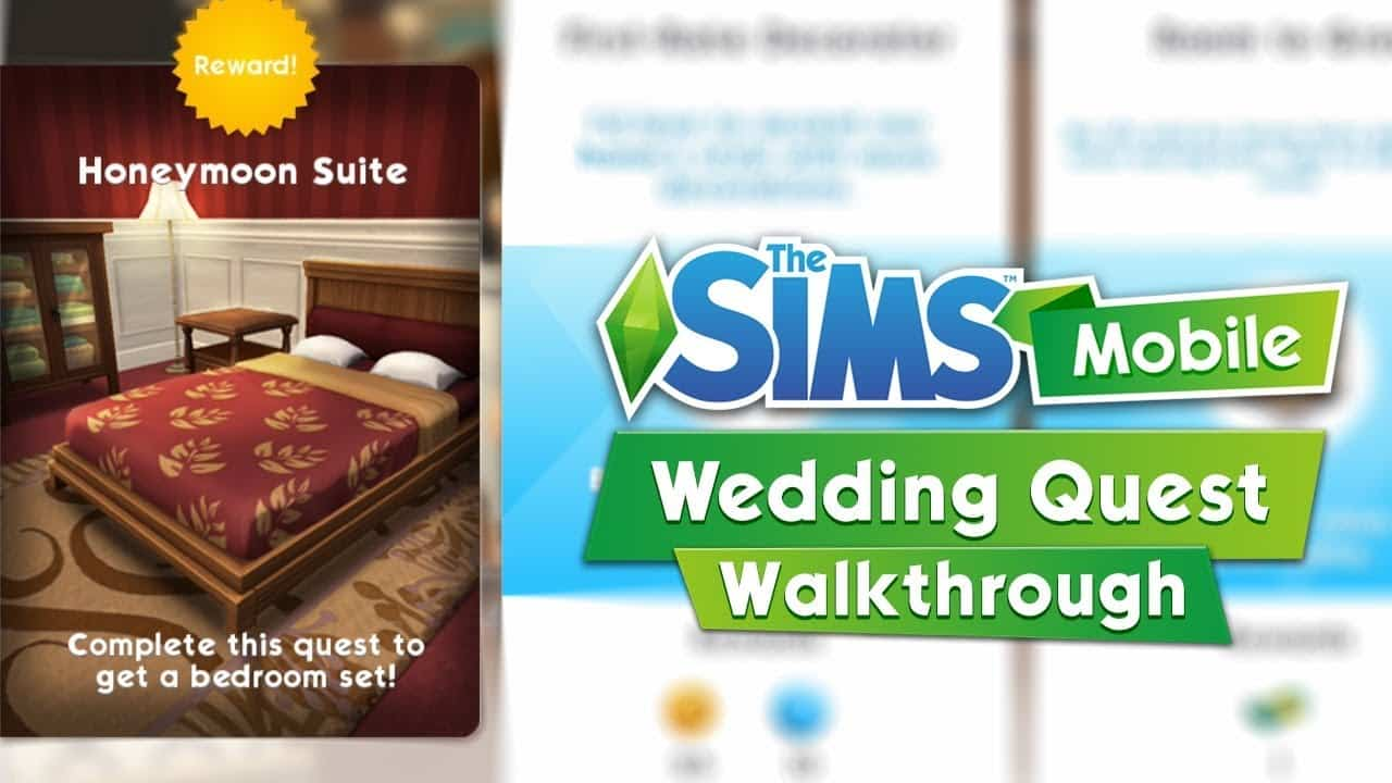 the sims mobile the wedding quest video walkthrough. Black Bedroom Furniture Sets. Home Design Ideas