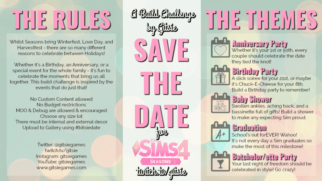 sims 4 build challenges, twitch build challenges, twitch, sims 4 twitch, seasons build challenges