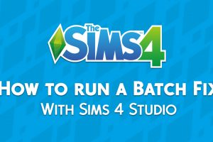 The Sims 4: How to run a Batch Fix with Sims 4 Studio