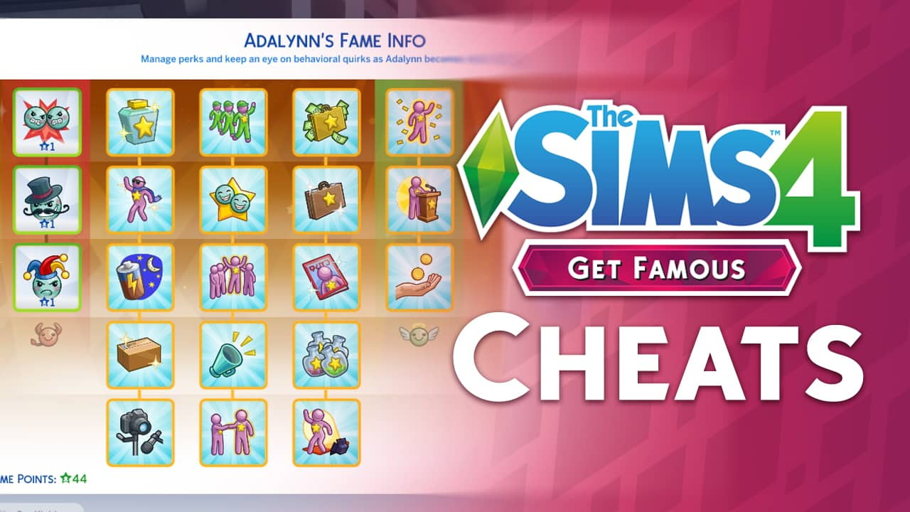 the sims 4 get famous video overview of the new cheats. Black Bedroom Furniture Sets. Home Design Ideas