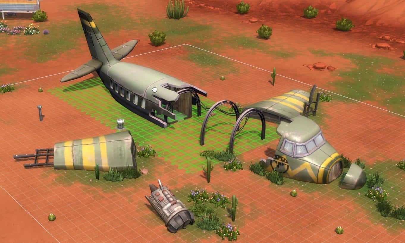 the sims 4 strangerville new airplane crash site screenshot