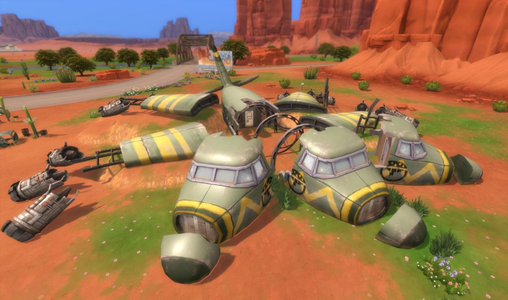 Try the create a sim demo to create your own sim! The Sims 4 StrangerVille: New Airplane Crash Site Screenshot