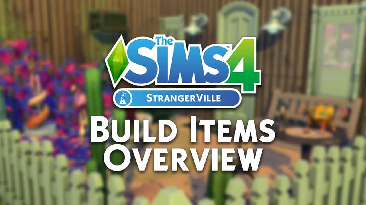the sims 4 strangerville build items overview. Black Bedroom Furniture Sets. Home Design Ideas