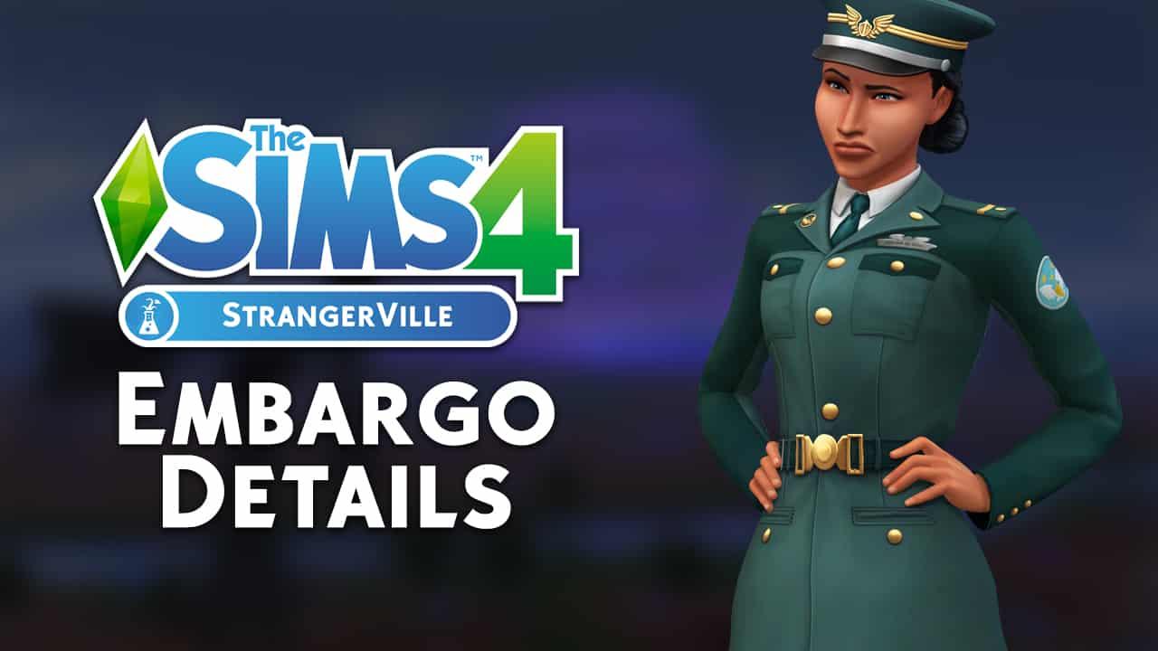 the sims 4 strangerville embargo details. Black Bedroom Furniture Sets. Home Design Ideas