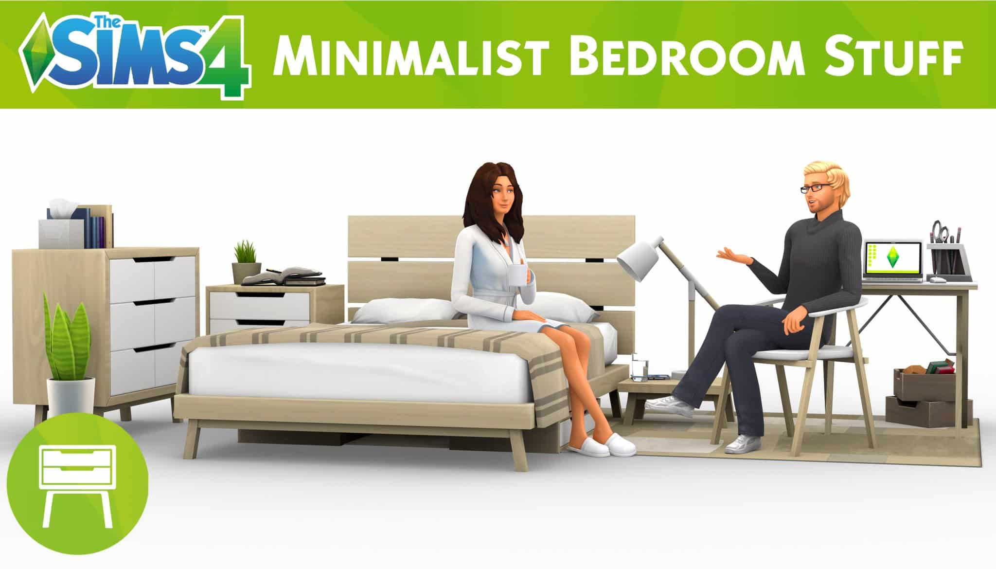 The Sims 4 Minimalist Bedroom Fanmade Custom Stuff Pack Now Available
