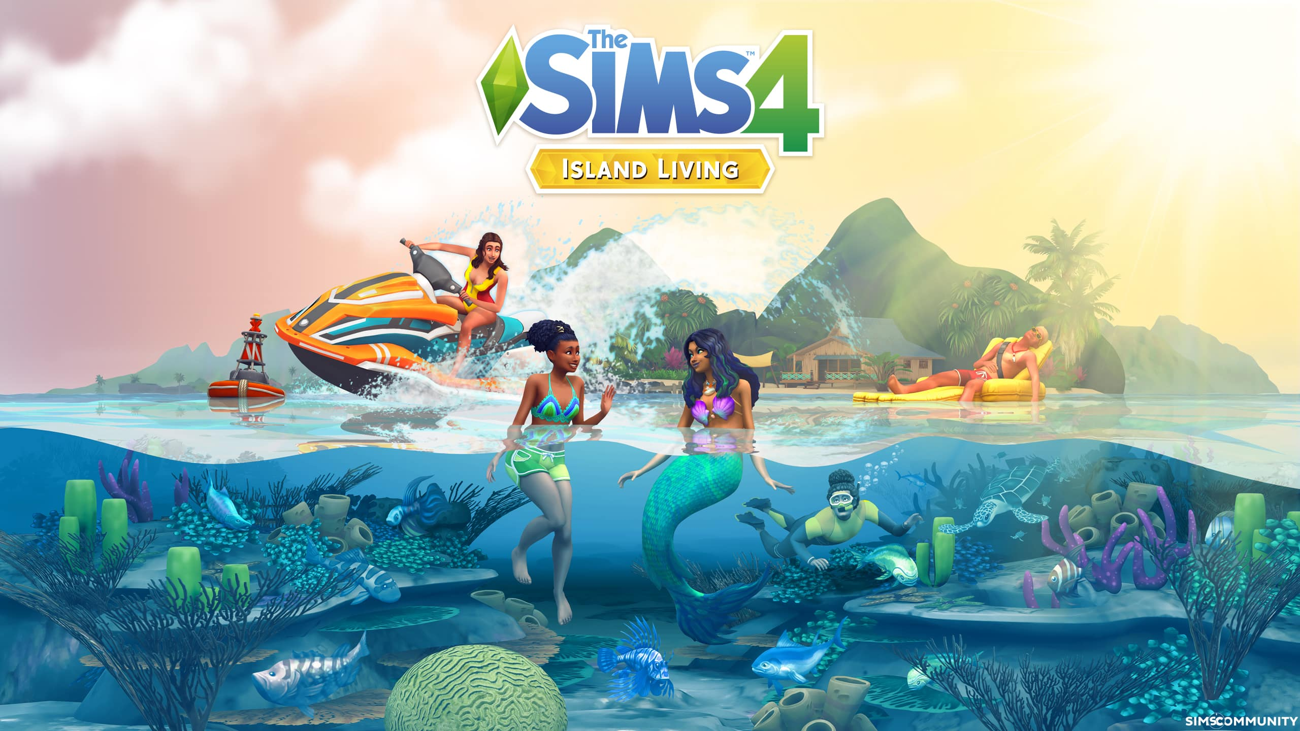 The Sims 4 Island Living Desktop And Smartphone Wallpaper