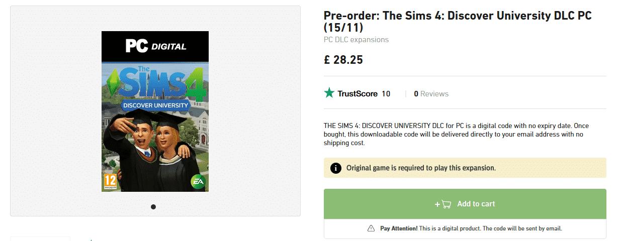 finns det online dating på Sims 4