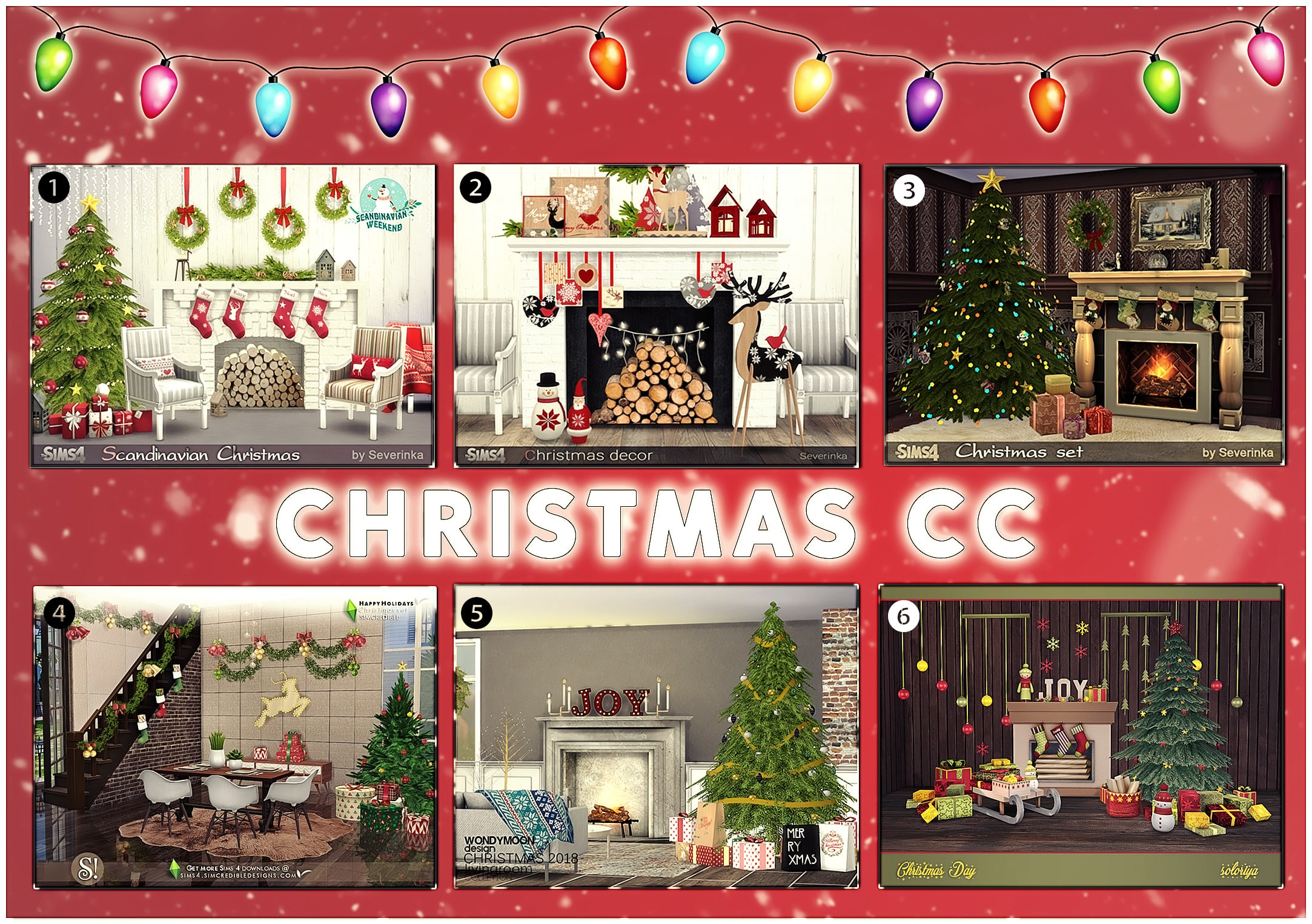 6 Christmas Custom Content Build Sets For The Sims 4 That We Love