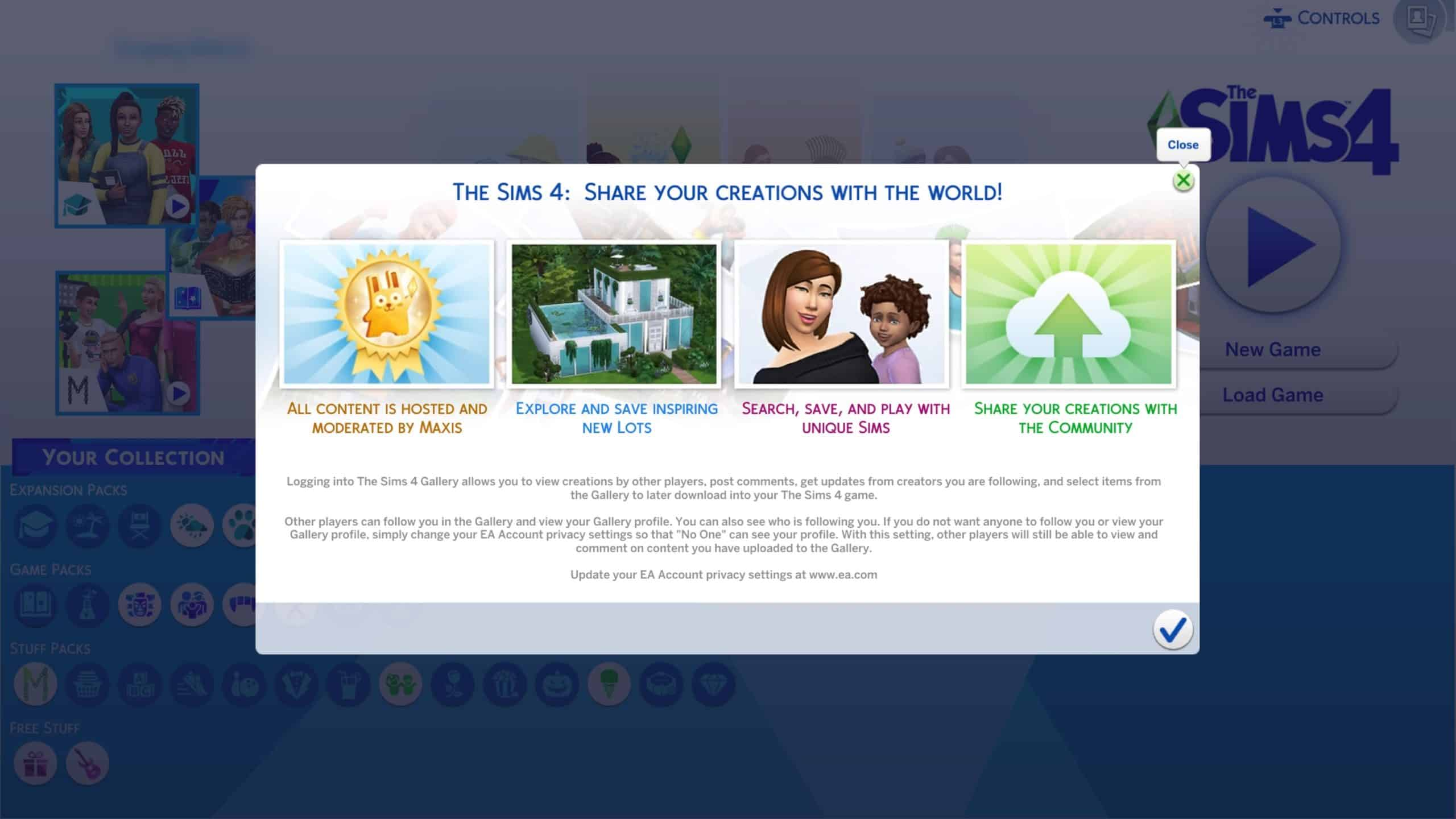 The Sims 4 Console: Welcome to the Gallery