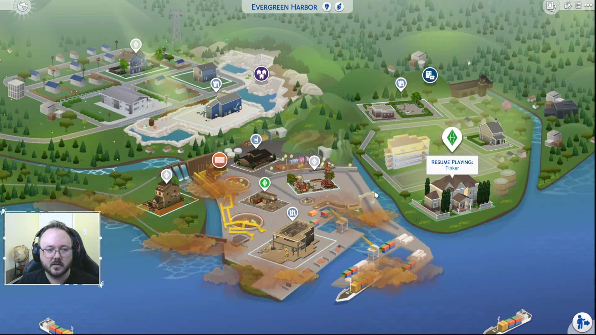 The Sims 4 Eco Lifestyle First Look At The Evergreen Harbor World Map