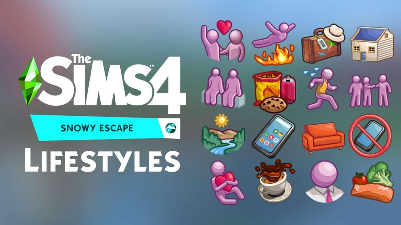 En Sims 4 Snowy Escape podemos jugar y desbloquear hasta 16 estilos de vida distintos jugar