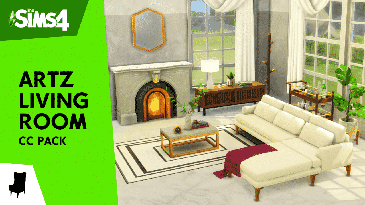 The Sims 20 Artz Living Room CC Stuff Pack is here