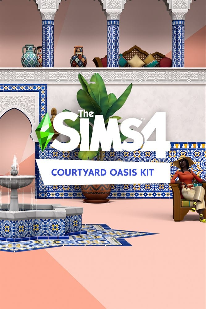 The Sims 4 Courtyard Oasis Kit