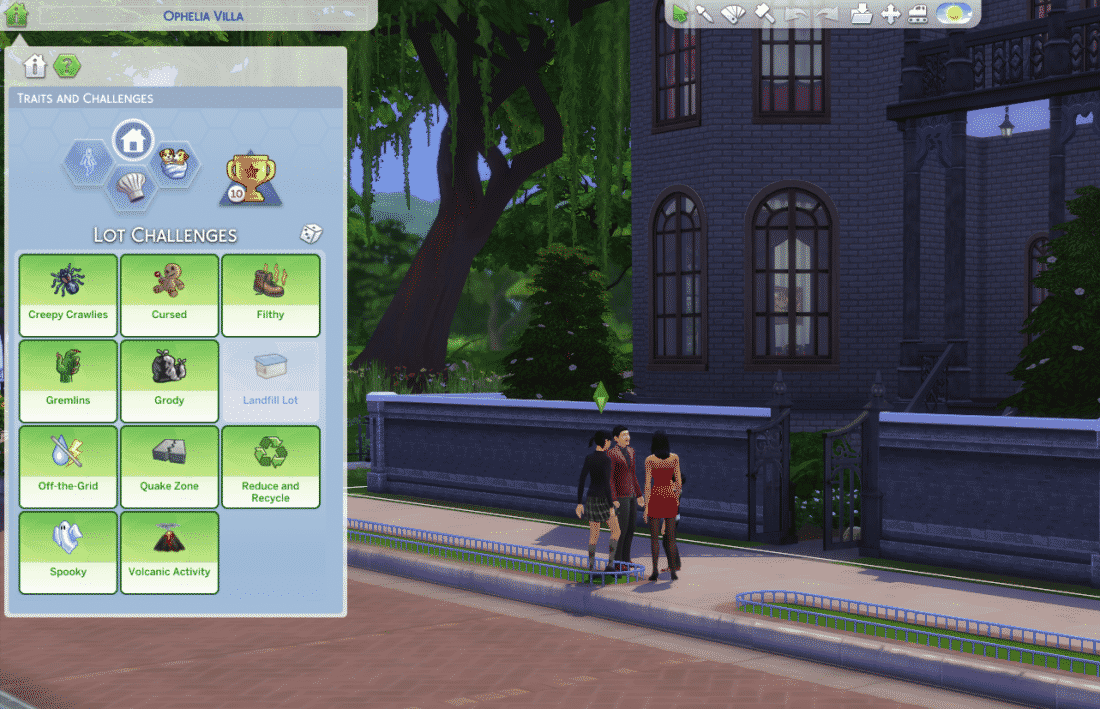 Sims challenges the 4 The Sims